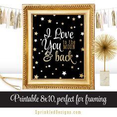 I Love You to the Moon and Back  Printable by SprinkledDesign