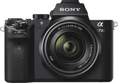 Sony - Alpha a7 II Full-Frame Mirrorless Camera with 28-70mm Lens - Black - Larger Front