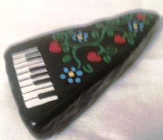 Rock Piano keyboard | Etsy Music Jewelry, Keyboard, Pot Holders, Piano, Craft Ideas, Rock, Unique Jewelry, Handmade Gifts, Crafts