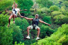 ziplining at Casela on th west coast of Mauritius