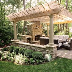 Pergola For Small Patio Code: 4985100659 Casa Patio, Backyard Pavilion, Backyard Gazebo, Backyard Patio Designs, Outdoor Pergola, Outdoor Rooms, Pergola Kits, Backyard Privacy, Pergola Ideas