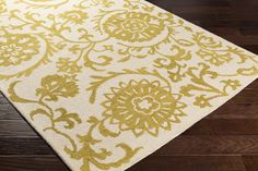Margaret Gold Floral Wool Hand-Tufted Area Rug | Joss & Main
