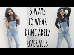 Dungarees or overalls are totally trending these days. I am going to show you guys 5 ways to wear & style dungarees or overalls. I put together 5 different l. Casual Outfits, Girl Outfits, Fashion Outfits, Fashion Ideas, Fashion Tips, Style Fashion, Dungarees Outfits, Different Styles, Latest Fashion Trends