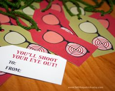A Christmas Story Gift Tags! You'll shoot your eye out!