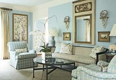 Paint color- Buxton Blue by Benjamin Moore ( like the freshness of this blue)