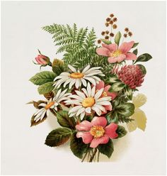 Vintage Pink Floral Bouquet Image - free - for craft projects