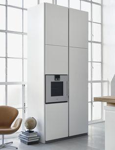 bulthaup b1 White lacquer tall cabinets Gaggenau oven
