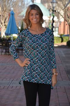 Nothing to Lose tunic, teal – Chapter 2 Boutique