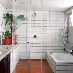 Uber Modernist House In South Africa Livingetc Shower Room - Home Decor Design African House, Bathroom Interior Design, Terracotta Tiles Bathroom, Bathroom Remodel Cost, Small Bathroom Vanities, White Bathroom, Bathroom Flooring, Bathroom Decor, Tile Bathroom