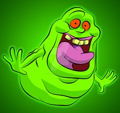 Was bored so i decided to draw Slimer!, Also did the coloring and shading.