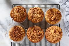 A Bakery Hack for Sky-High Muffins on Food52 Blueberry Streusel Muffins, Cherry Muffins, Lemon Poppyseed Muffins, Apple Muffins, Lemon Muffins, Blue Berry Muffins, Bran Muffins, Muffin Recipes, Baking Recipes