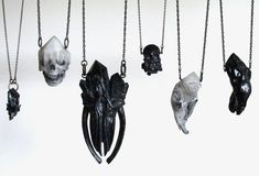 Crystal Ossuary: macabre jewelry by Kristen Philips (floridXfauna)