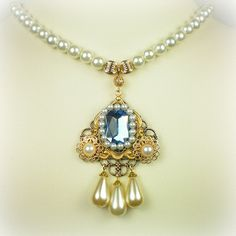 Catherine Howard light sapphire necklace.