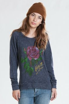 OBEY LET THEM BLEED KNIT TOP $53. Large