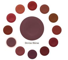 "Devine Color - home, paint, house inspiration, matching colors, artistic pallet, paint, design, painting a whole house, color, interior design ""Perfectly paired with...Devine Shiraz. This red is full of cool flavor. Bump it up to Devine Bordeaux and or take it back to Devine Pinot. Also see Devine Damask."" Gretchen Schauffler"