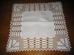 Crochet Borders, Afghan Crochet Patterns, Filet Crochet, Crochet Tablecloth, Crochet Doilies, Crochet Lace, Chrochet, Diy And Crafts, Quilts