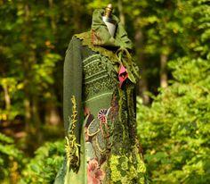 Sweater COAT woodland patchwork bohemian textured door amberstudios