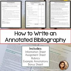 bibliography annotation