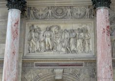 There are many details which cover the Arc de Triomphe du Carrousel, including many bas reliefs, stone carving and statues which you can find all over, such as this photo we took of one particular detail found between two lovely columns on the monument.  You may also like www.eutouring.com