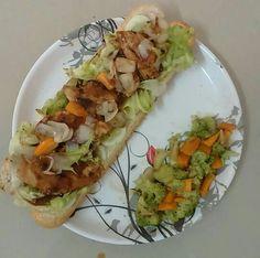chicken teriyaki n Vegies in double sub n extra Vegies.