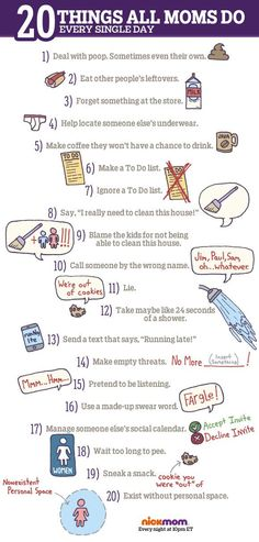 So true!! 20 Things All Moms Do Every Single Day | More LOLs & Funny Stuff for Moms | NickMom