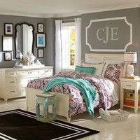 Use this monogram idea for the boys above their beds.