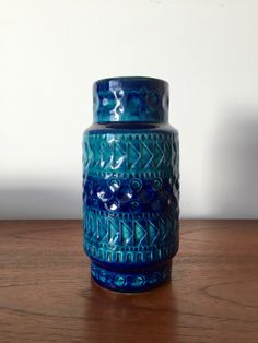 Vase Bay Keramik, West German Pottery, Fat Lava, Mid Century, Bitossi Stil von moovi auf Etsy