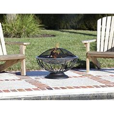 The unique Stainless Steel Urn Fire Pit from Fire Sense features a stainless steel fire bowl which sits atop an attractive urn base.