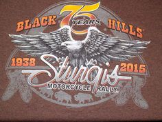 Sturgis Motorcycle Rally 75th Anniversary 1938-2015 T Shirt Size XL Brown #Sturgis #GraphicTee