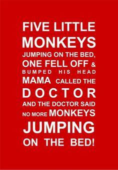 Five Little Monkeys Print