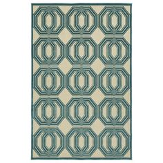 Shop for Indoor/Outdoor Luka Blue Geo Rug (3'10 x 5'8). Get free shipping at Overstock.com - Your Online Home Decor Outlet Store! Get 5% in rewards with Club O! - 17256776