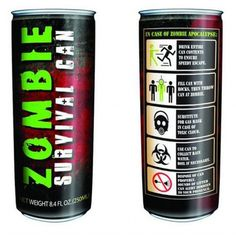 Zombie Survival Energy Drink for sale by Rachels Graveyard at MoreThanHorror.com