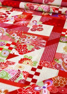 Japanese cotton tirimen fabric.