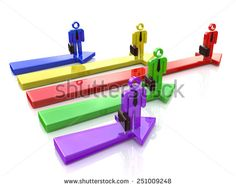 Business competition. Leader of competition. Concept. 3d illustration - stock photo