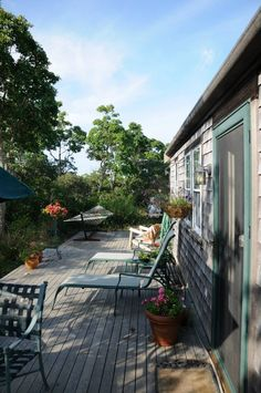Tom Nevers Nantucket cottage rental - Large, Private Deck for outdoor meals, sunbathing, relaxing ...