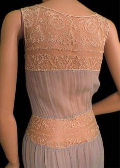 Embroidered Sheer Net Slip Dress Edwardian Chiffon Lingerie