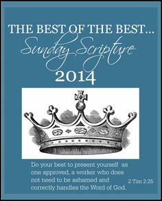 THE BEST OF THE BEST SUNDAY SCRIPTURES OF 2014