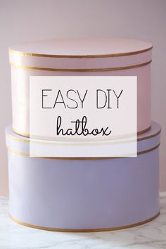 I just found this easy DIY hatbox. How fun!