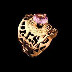 Semi precious stone gold ring By Kelka Jewelry