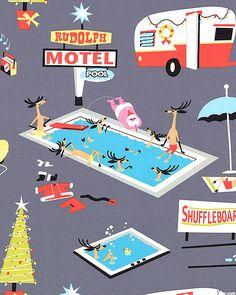 Holiday Break - Rudolph Motel - Pewter Gray