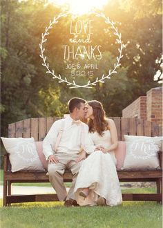 Rustic Wreath Wedding Thank You Cards PRINTED WITH ENVELOPES - Vintage Wedding Thank you Cards - Photo Thank You Cards