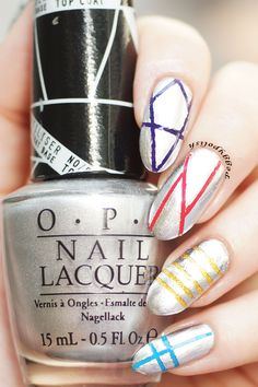 OPI push and shove together with some colorful polishes