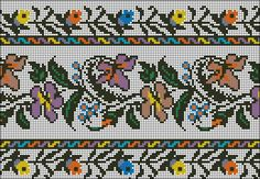 Folk Embroidery, Embroidery Patterns, Cross Stitch Borders, Cross Stitch Patterns, Palestinian Embroidery, Drawn Thread, Vintage Cross Stitches, Fabric Beads, Beading Patterns