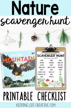 Download and print this nature scavenger hunt checklist and enjoy some time exploring the outdoors with your kids.