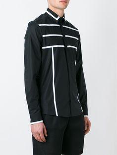 Les Hommes stripe detail button down shirt Man Wear, John John, Men Shirt, African Men, Boho Pants, Well Dressed, Shirt Style, Casual Shirts, Shirt Designs