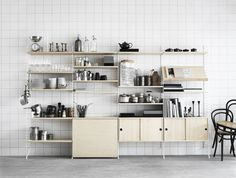 String Shelving Unit Table up: Remodelista