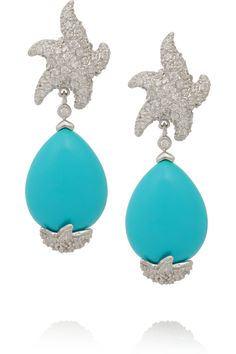 Kenneth Jay LaneSilver-tone crystal and resin earrings