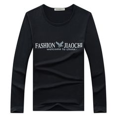 Fabric Material:CottonClosure Type:Standard Sleeve Length: Long Sleeve Collar: Round Neck Fit Type: RegularDecoration: PrintingThickness:StandardColor:Black, White, Wine Red, Gray, Dark BlueOccasion:Casual, FashionSeason:Fall, WinterTag Size: L, XL, 2XL, 3XL, 4XL Package included:1* T-shirt Please Note: 1.Please see the Size Reference to find the correct size.