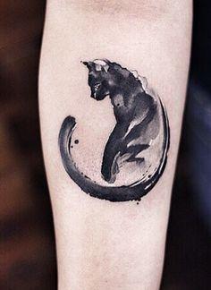 Chen Jie Newtattoo cat tattoo