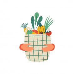 Find Human Hands Hold Eco Basket Full stock images in HD and millions of other royalty-free stock photos, illustrations and vectors in the Shutterstock collection. Illustration Inspiration, Cute Illustration, Sweet Potato Plant, Small Leaf, Food Illustrations, Cartoon Styles, Really Cool Stuff, Doodles, Basket